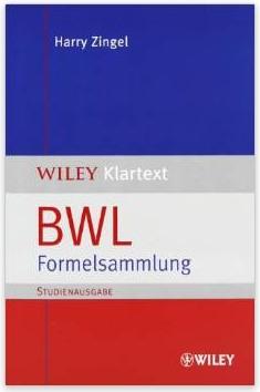 Buch BWL Formelsammlung