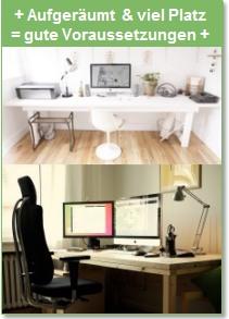 Schreibtisch für wissenschaftliches Arbeiten