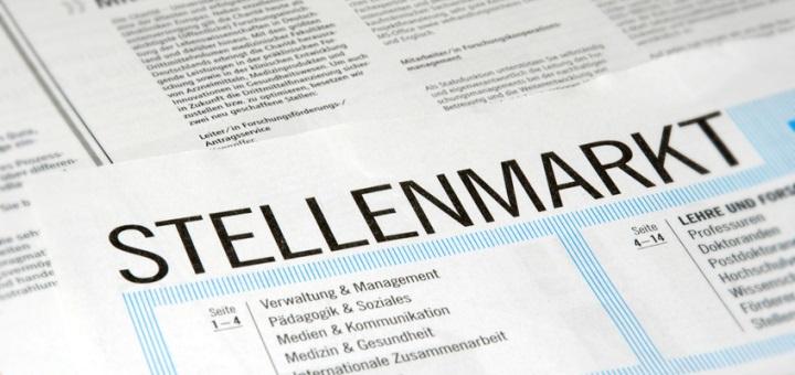Stellenangebote Anzeige in einer Tageszeitung